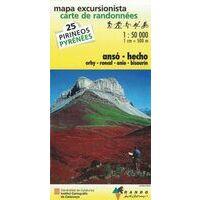 Rando Editions Wandelkaart 25 Ansó - Hecho