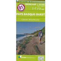 Rando Editions Wandelkaart 01 Pays Basque Ouest