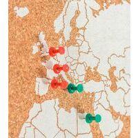 Miss Wood Woody Map Wereldkaart Kurk Large White 60 X 45 Cm