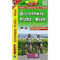 Shocart Maps Fietskaart Greenway Praag - Wenen
