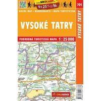 Shocart Maps Wandelkaart 701 Vysoké Tatry - Oostelijke Tatra