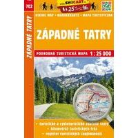 Shocart Maps Wandelkaart 702 Západné Tatry - Westelijke Tatra