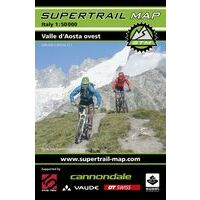 Supertrail Maps Supertrail MTB-kaart Val D'Aosta West