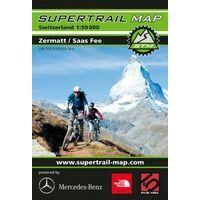 Supertrail Maps Supertrail MTB-kaart Zermatt - Saas Fee