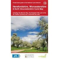 Sustrans Maps Cycle Map 15 Herefordshire Worcestershire North