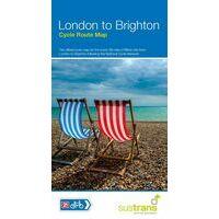 Sustrans Maps Fietskaart London To Brighton Cycle Route