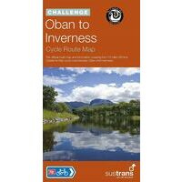 Sustrans Maps Fietskaart Oban To Inverness Cycle Map