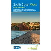 Sustrans Maps Fietskaart South Coast West Cycle Route Map