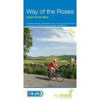 Sustrans Maps Fietskaart Way Of The Roses Cyle Route Map