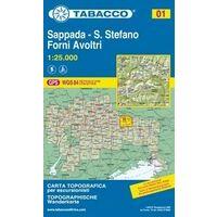 Tabacco Topografische Wandelkaart 01 Sappada 1:25.000