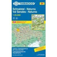Tabacco Topografische Wandelkaart 04 Val Senales 1:25.000