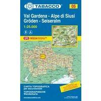 Tabacco Topografische Wandelkaart 05 Val Gardena 1:25.000