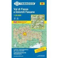 Tabacco Topografische Wandelkaart 06 Val Di Fassa