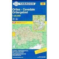 Tabacco Topografische Wandelkaart 08 Ortlergruppe