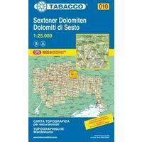 Tabacco Topografische Wandelkaart 010 Sextener Dolomiten 1:25.000