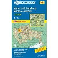 Tabacco Topografische Wandelkaart 011 Meran Und Umgebung 1:25.000