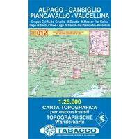 Tabacco Topografische Wandelkaart 012 Alpago - Cansiglio