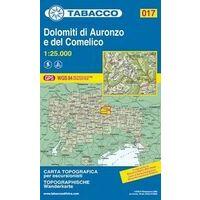 Tabacco Topografische Wandelkaart 017 Dolomiti Di Auronzo 1:25.000