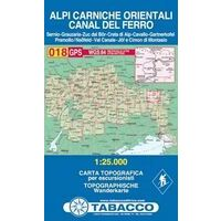 Tabacco Topografische Wandelkaart 018 Alpi Carniche Orientali