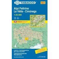 Tabacco Topografische Wandelkaart 023 Alpi Feltrine 1:25.000