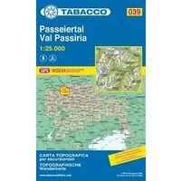 Tabacco Topografische Wandelkaart 039 Passeiertal Val Passiria