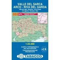 Tabacco Topografische Wandelkaart 055 Val Sarca Arco 1:25.000