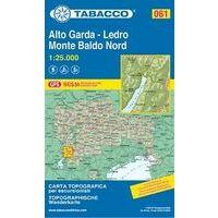 Tabacco Topografische Wandelkaart 061 Alto Garda