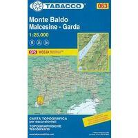 Tabacco Topografische Wandelkaart 063 Monte Baldo 1:25.000