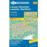 Tabacco Topografische Wandelkaart 072 Lienzer Dolomiten