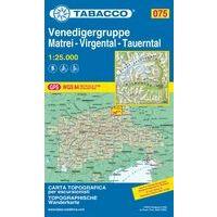 Tabacco Wandelkaart 075 Venedigergruppe - Matrei