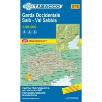 Tabacco Wandelkaart 078 Garda Occidentale - Salo