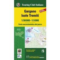 TCI Topografische Wandelkaart Gargano 1:50.000