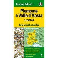 TCI Wegenkaart 1 Piemonte En Valle D'Aosta