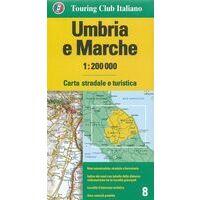 TCI Wegenkaart 8 Umbrië En Le Marche