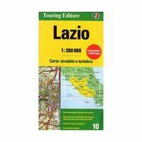 TCI Wegenkaart 10 Lazio Latium En Rome