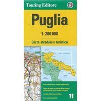 TCI Wegenkaart 11 Puglia Apulië