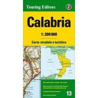 TCI Wegenkaart 13 Calabrië Calabria
