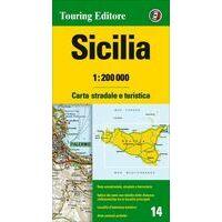 TCI Wegenkaart 14 Sicilië Sicilia
