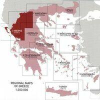 Terrain Maps Wegenkaart 3 Epirus Provincie