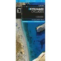 Terrain Maps Wegenkaart 8 Cycladen