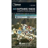 Terrain Maps Wandelkaart 345 Karpathos En Kasos