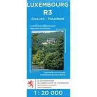 Topo Luxemburg Topografische Kaart R3 Diekirch