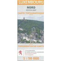 Topo Luxemburg Toeristische Kaart Luxemburg Noord 1:50.000
