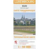 Topo Luxemburg Toeristische Kaart Luxemburg Zuid