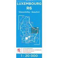 Topo Luxemburg Topografische Kaart R6 Wasserbillig - Beaufort