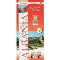 Huber Verlag Topografische Wandelkaart 06 Elbasan Berat