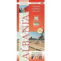 Huber Verlag Topografische Wandelkaart 05 Tirana, Durres Kruja