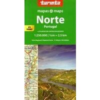Turinta Wegenkaart Portugal Noord