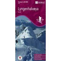 Nordeca Turkart Wandelkaart 2780 Lyngenhalvoya Nord