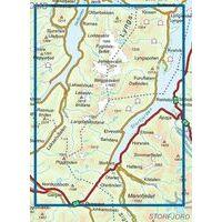 Nordeca Turkart Wandelkaart 2781 Lyngenhalvoya Sor